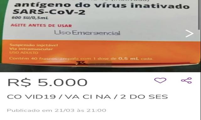 PROCON SC multa OLX em R$ 240 mil por falso anúncio de venda da vacina Coronavac